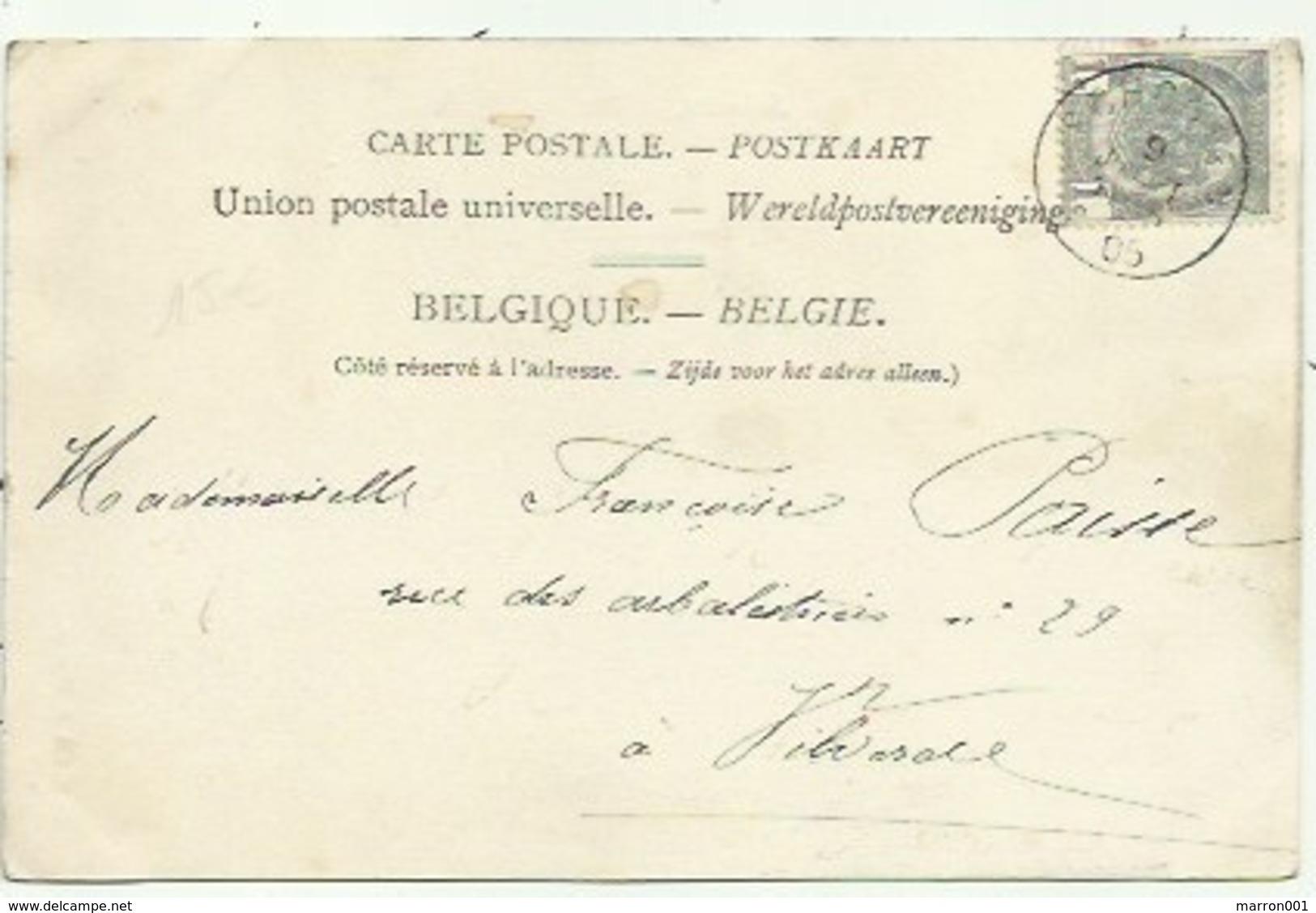 """Schoten Hof """" Ter Donck""""Hoelen  N 406 - Verzonden 1905 - Schoten"""