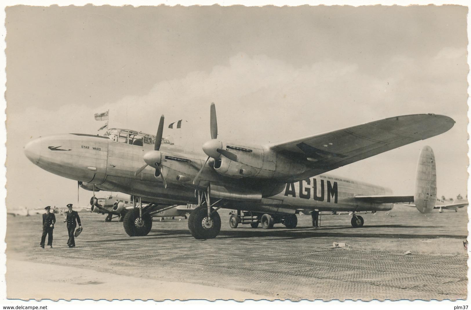 """Quadrimoteur """"Lancaster"""" De La Cie Anglaise """"B.S.A.A."""" - Le Bourget - 1946-....: Ere Moderne"""