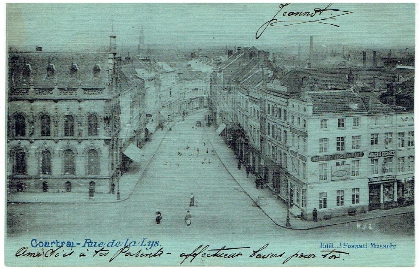 COURTRAI - Rue De La Lys - Uitg. J. Fossati-Mussely - Kortrijk