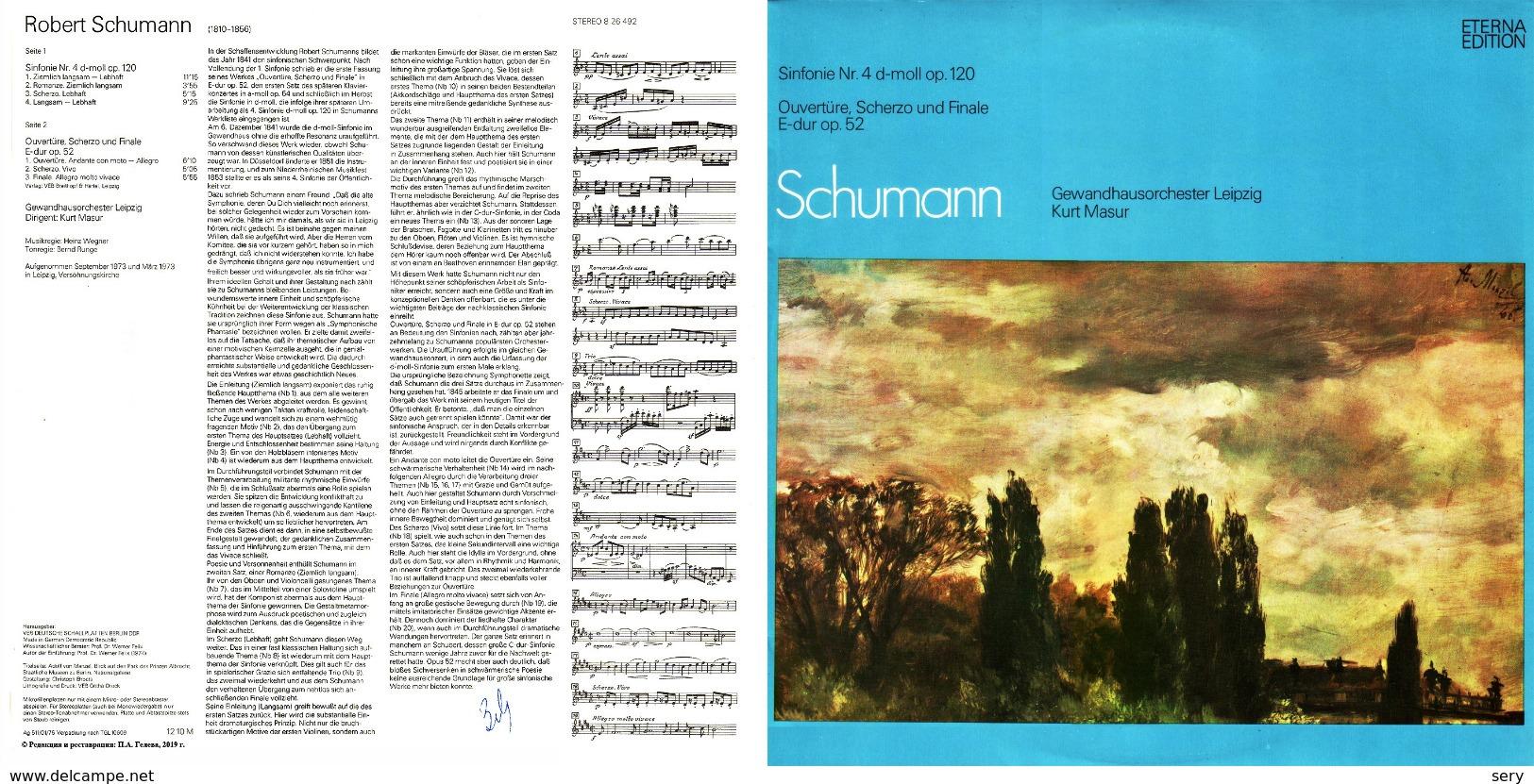 Superlimited Edition  CD Kurt Masur&Gewandhausorchester. SCHUMANN. SINFONIE Nr.4, D-moll. SYMPHONETTE E-dur. - Classical