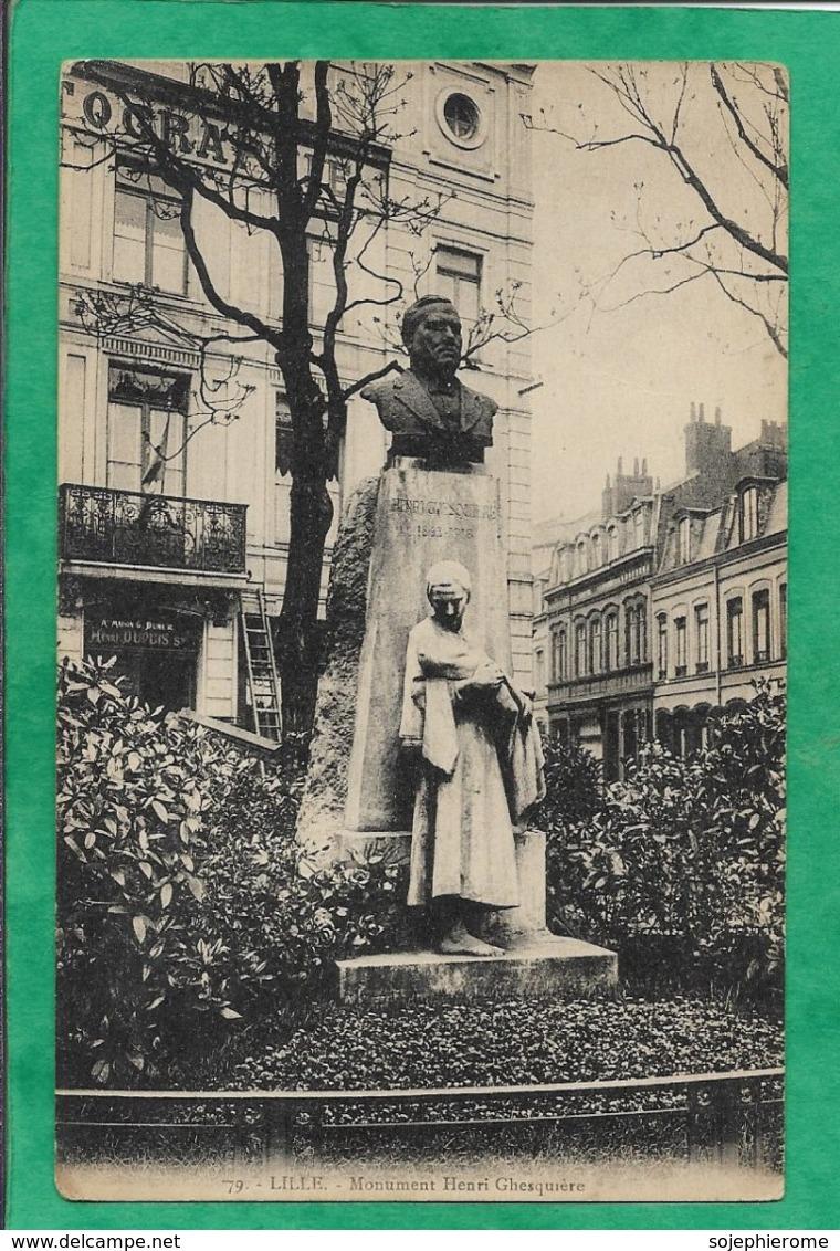 Lille 59 Monument Henri Ghesquière Syndicaliste 2scans Sculpteur Alexandre Desruelles (Valenciennes 1865-1943 La Flèche) - Lille