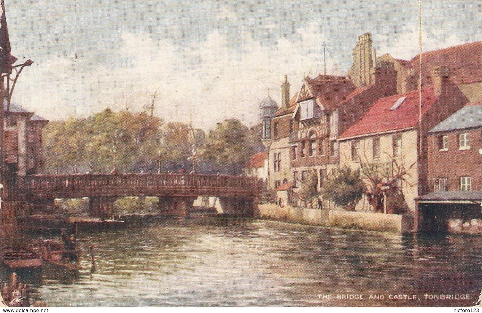 """Tonbridge. The Bridge Nd Castle"" Tuck Oilette Postcard # 7182 - Tuck, Raphael"