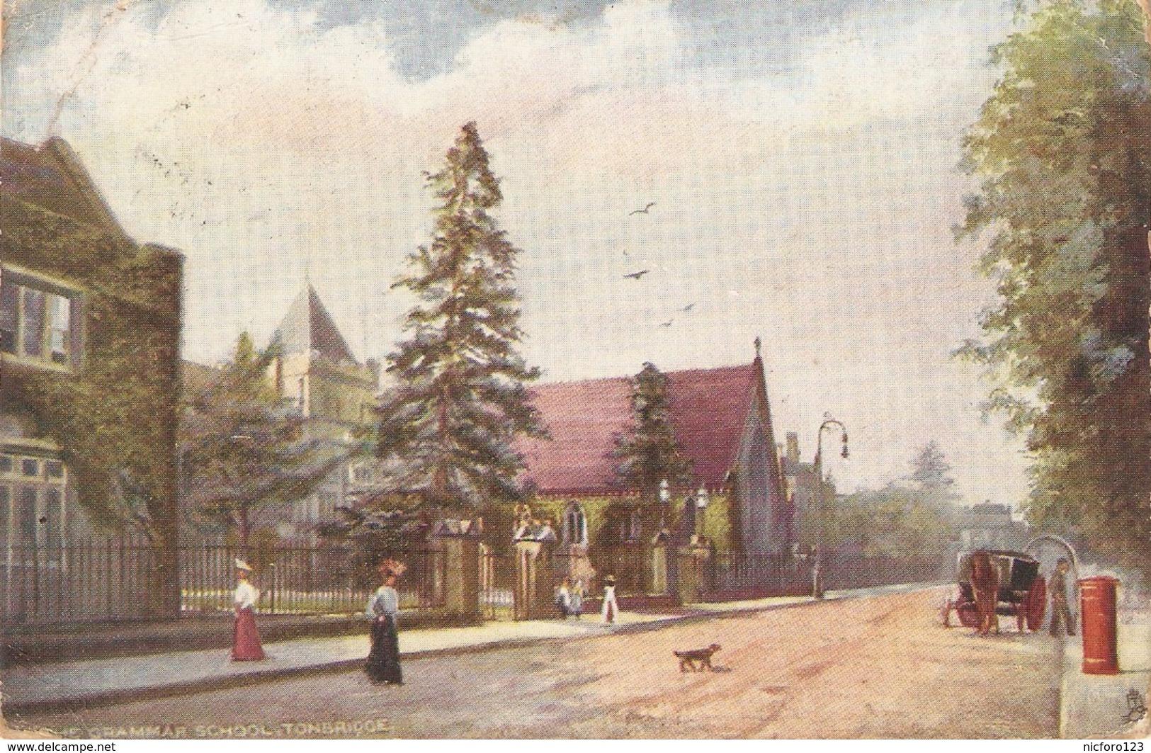 """Tonbridge. Grammar School"" Tuck Oilette Postcard # 7182 - Tuck, Raphael"
