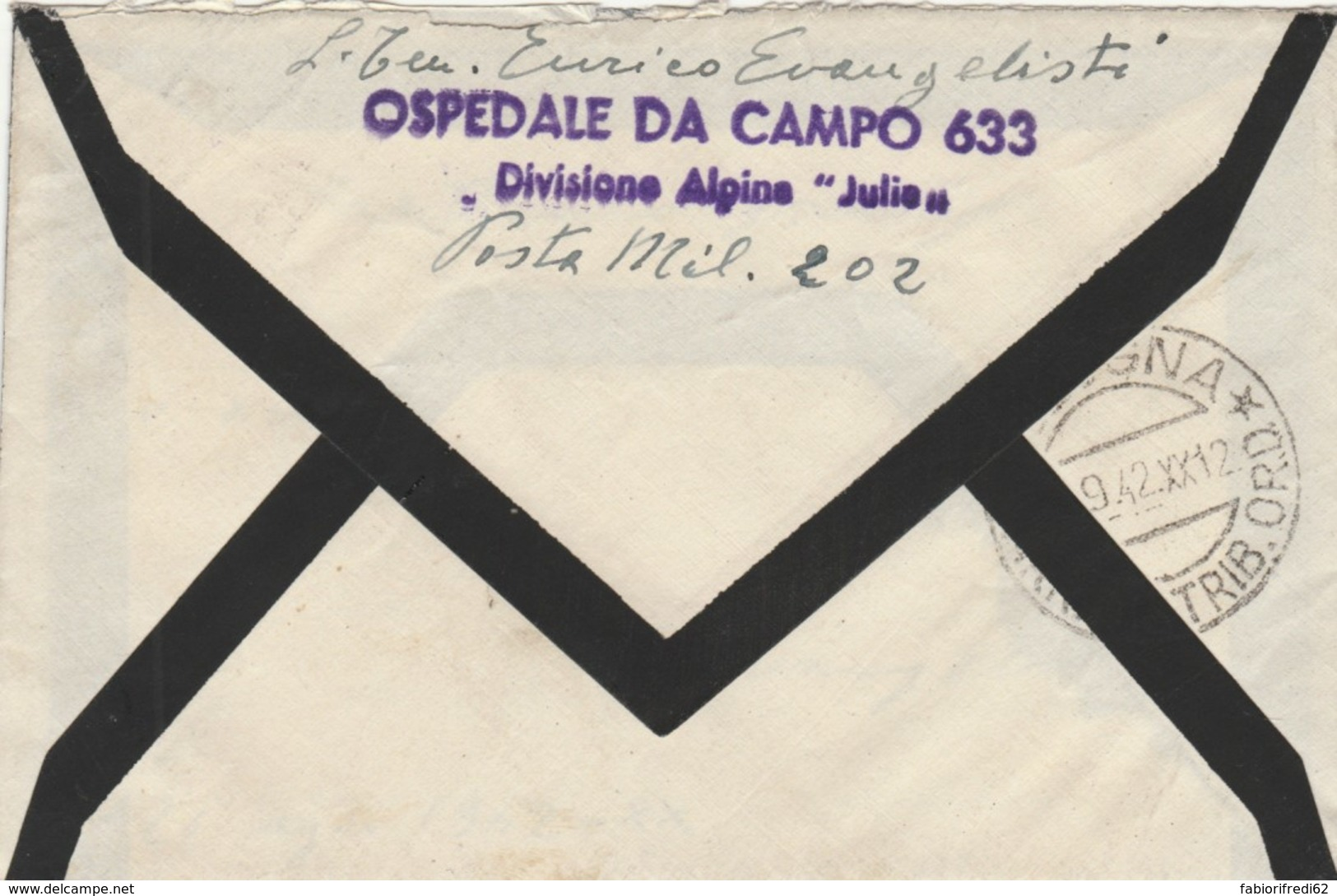 LETTERA 1942 C.50 PM202 - DA RUSSIA -DIVISIONE ALPINA JULIA (IX1296 - 1900-44 Vittorio Emanuele III