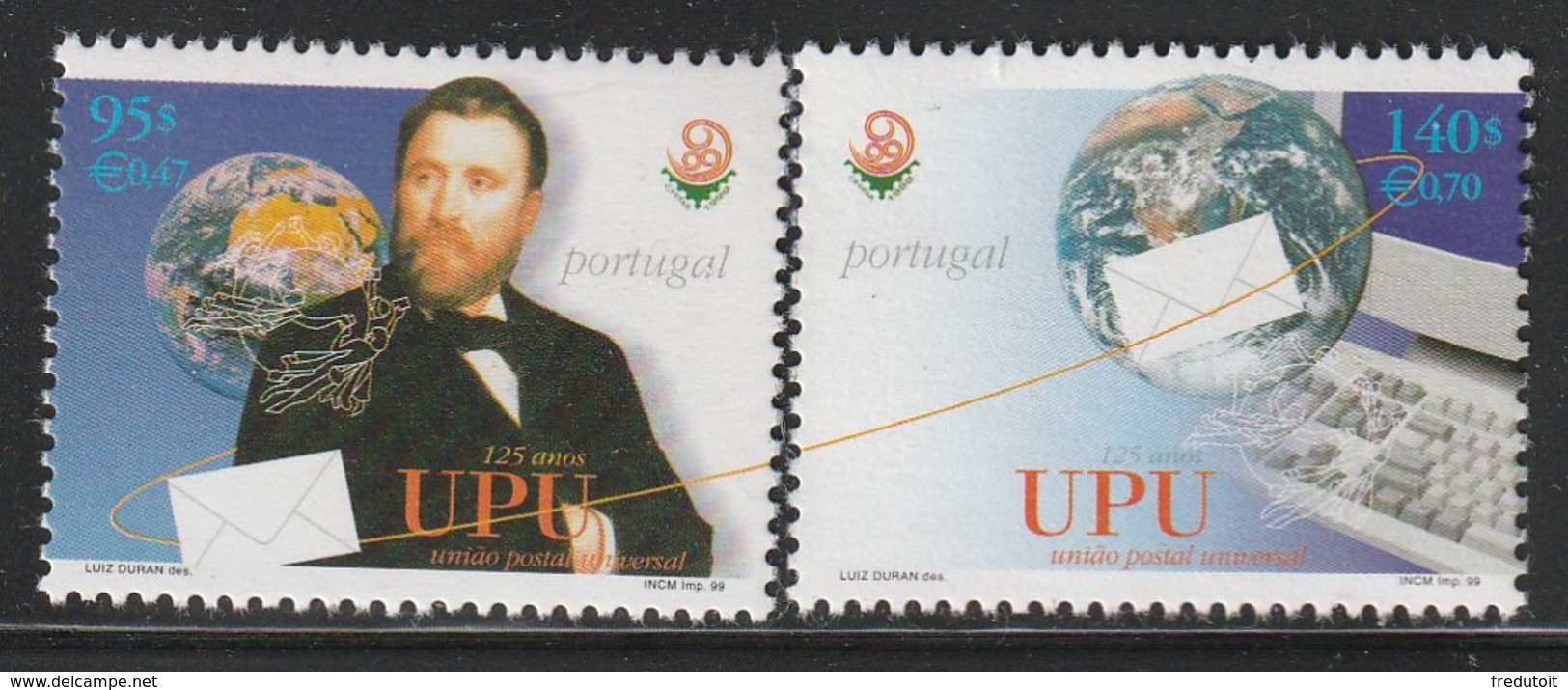 PORTUGAL - N°2343/4 ** (1999)  U.P.U - Nuovi