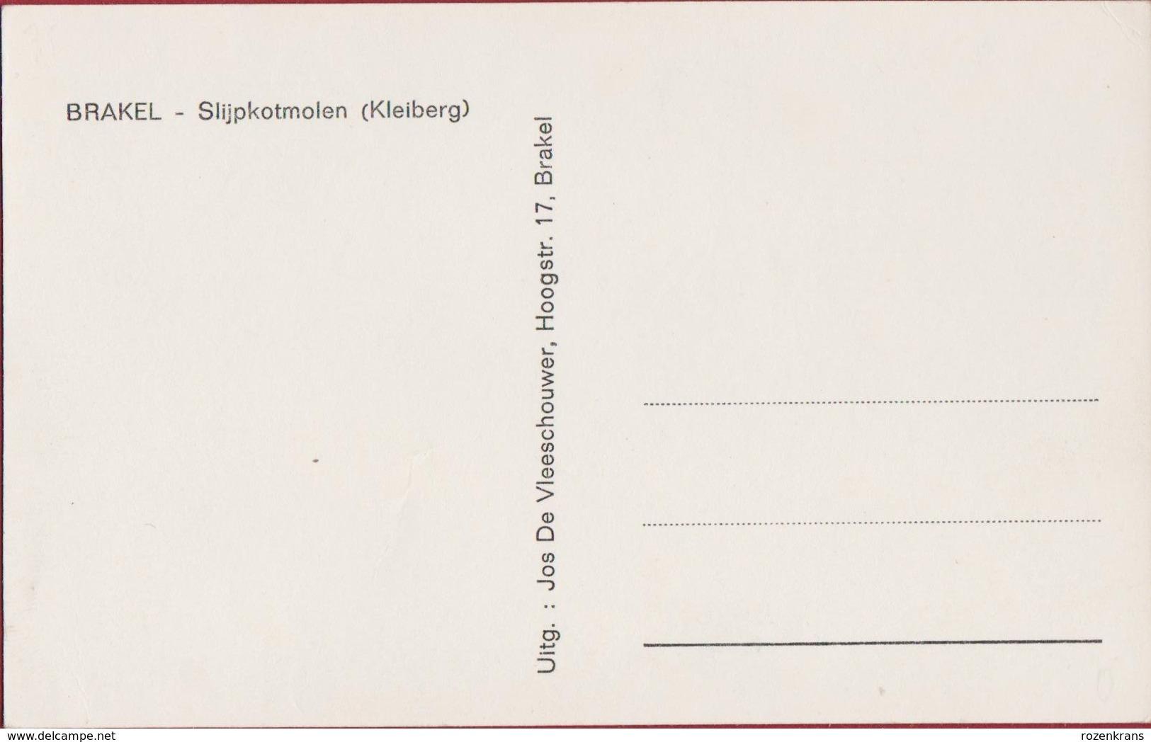 Brakel Slijpkotmolen Kleiberg Watermolen (In Zeer Goede Staat) - Brakel