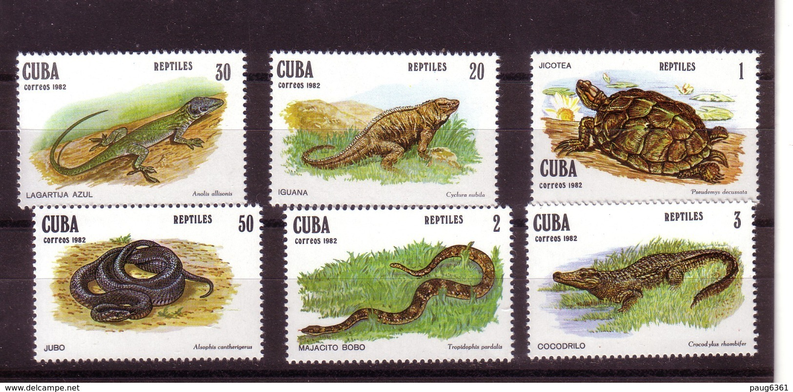 CUBA 1982  REPTILES   YVERT N°2369/74 NEUF MNH** - Non Classés