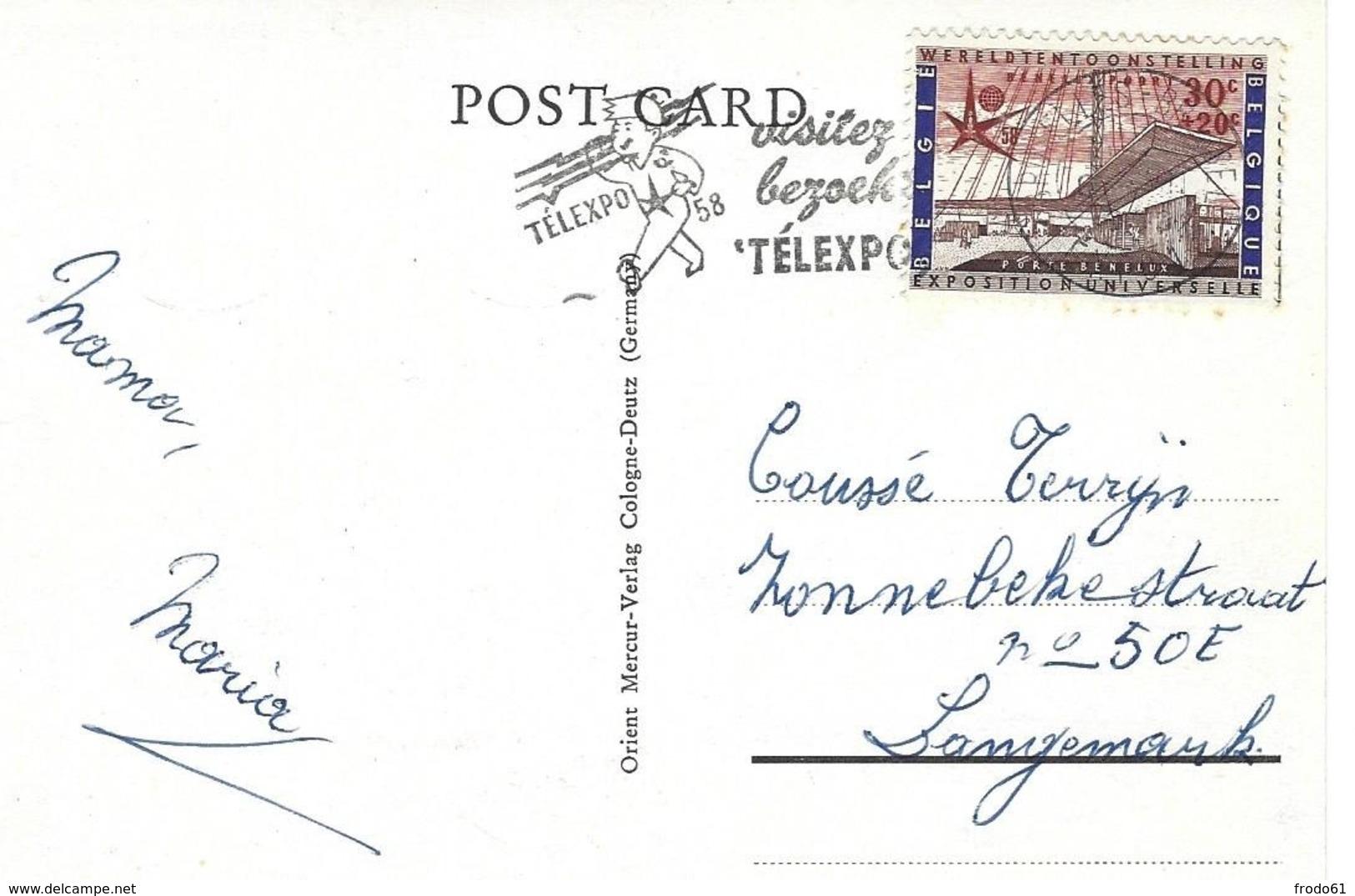 IRAK, IRAQ, BAGHDAD, BASRAH, Verstuurd In België, Stamp EXPO 58 - Iraq