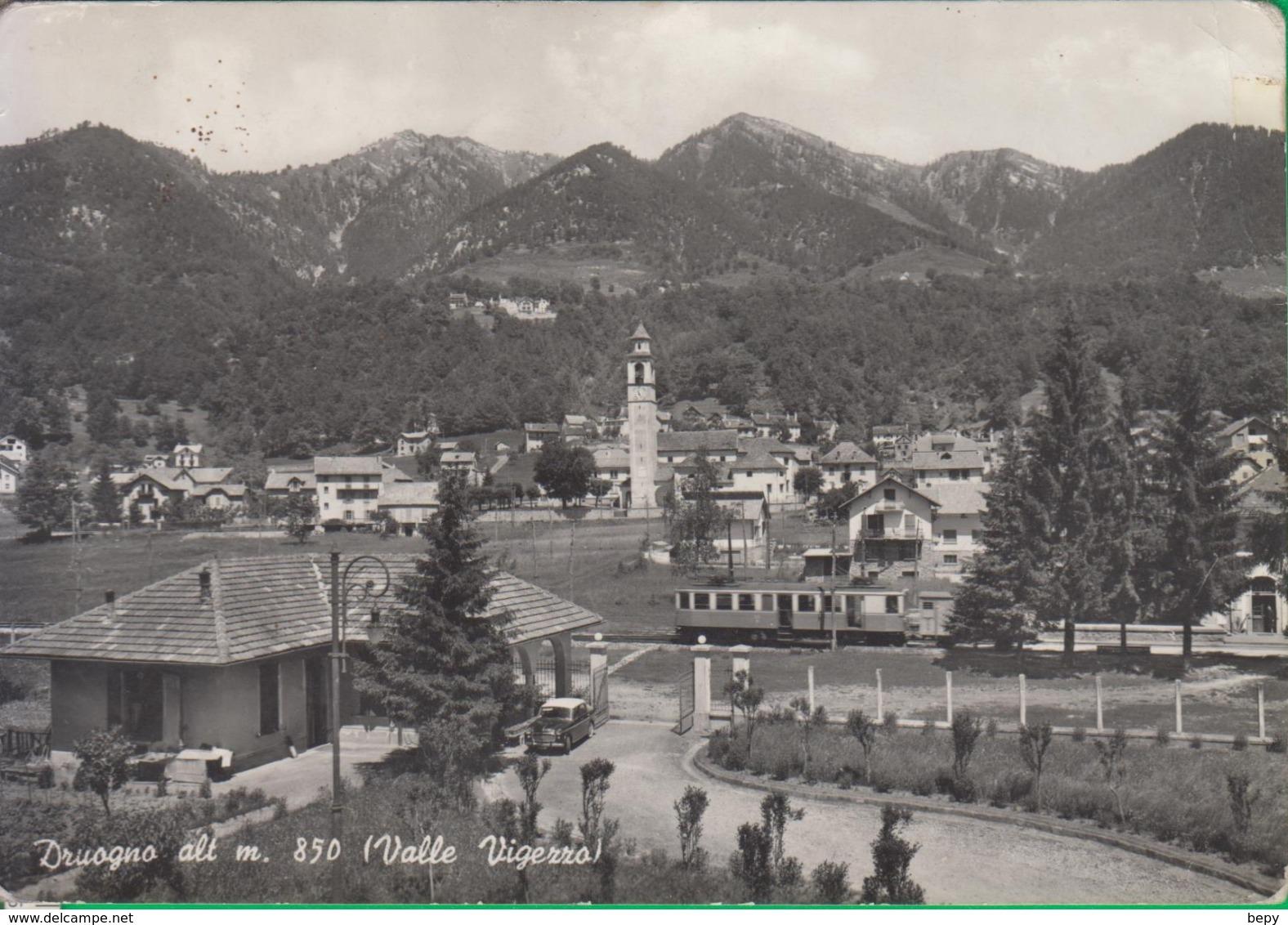 DRUOGNO. Valle Vigezzo. Tram. Treno. Chiesa. 19a - Novara