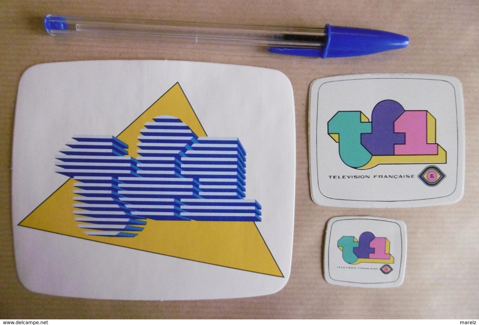 Autocollant Stickers - Médias Tv Télévision TF1 - Lot De 3 Autocollants Tous Différents - Autocollants