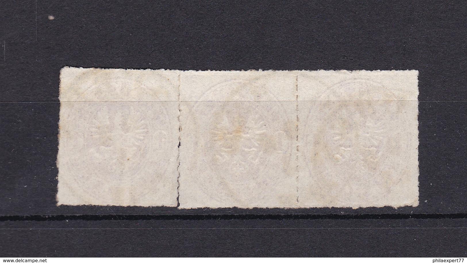 Preussen - 1861 - Michel Nr. 16 - Dreierstreifen - Gest. - Preussen