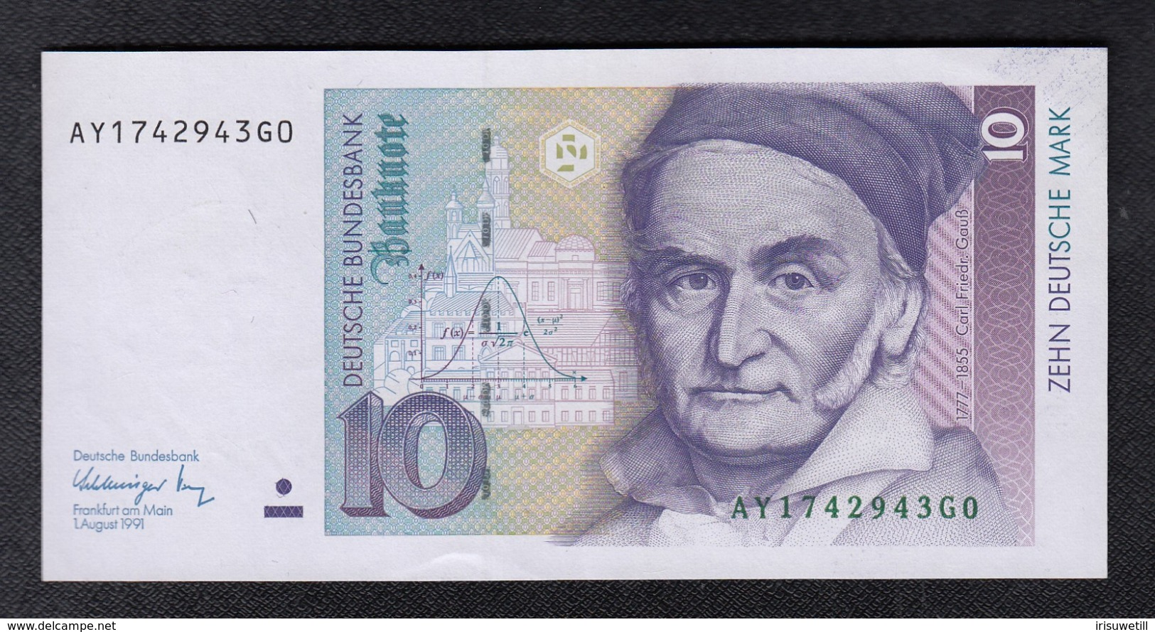 Deutsche Bundesbank 10 DM 1991 - 10 Deutsche Mark