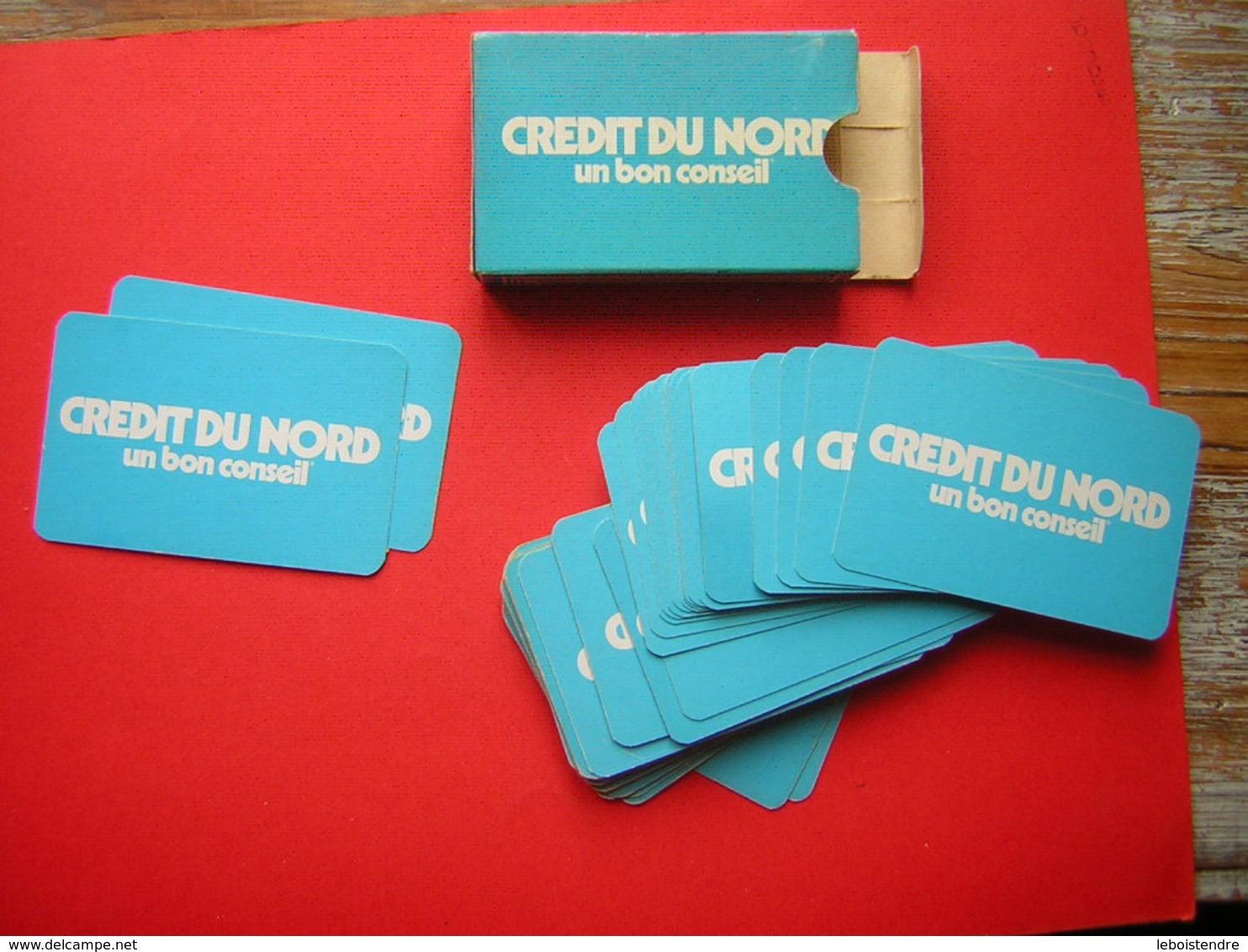 JEU DE 52  CARTES + 2 JOKER  PUB CREDIT DU NORD  SON CARTONNAGE - Spielkarten