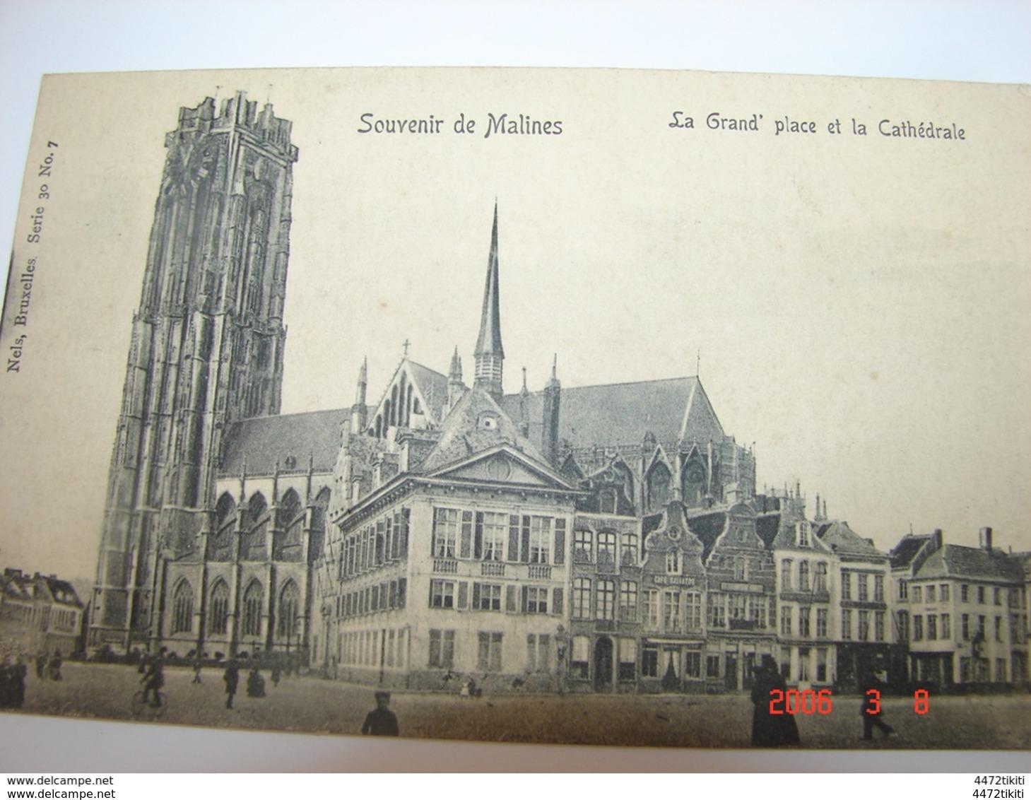 C.P.A.- Belgique - Malines Ou Mechelen - La Grand' Place Et La Cathédrale- 1904 - SUP (AX 2) - Malines