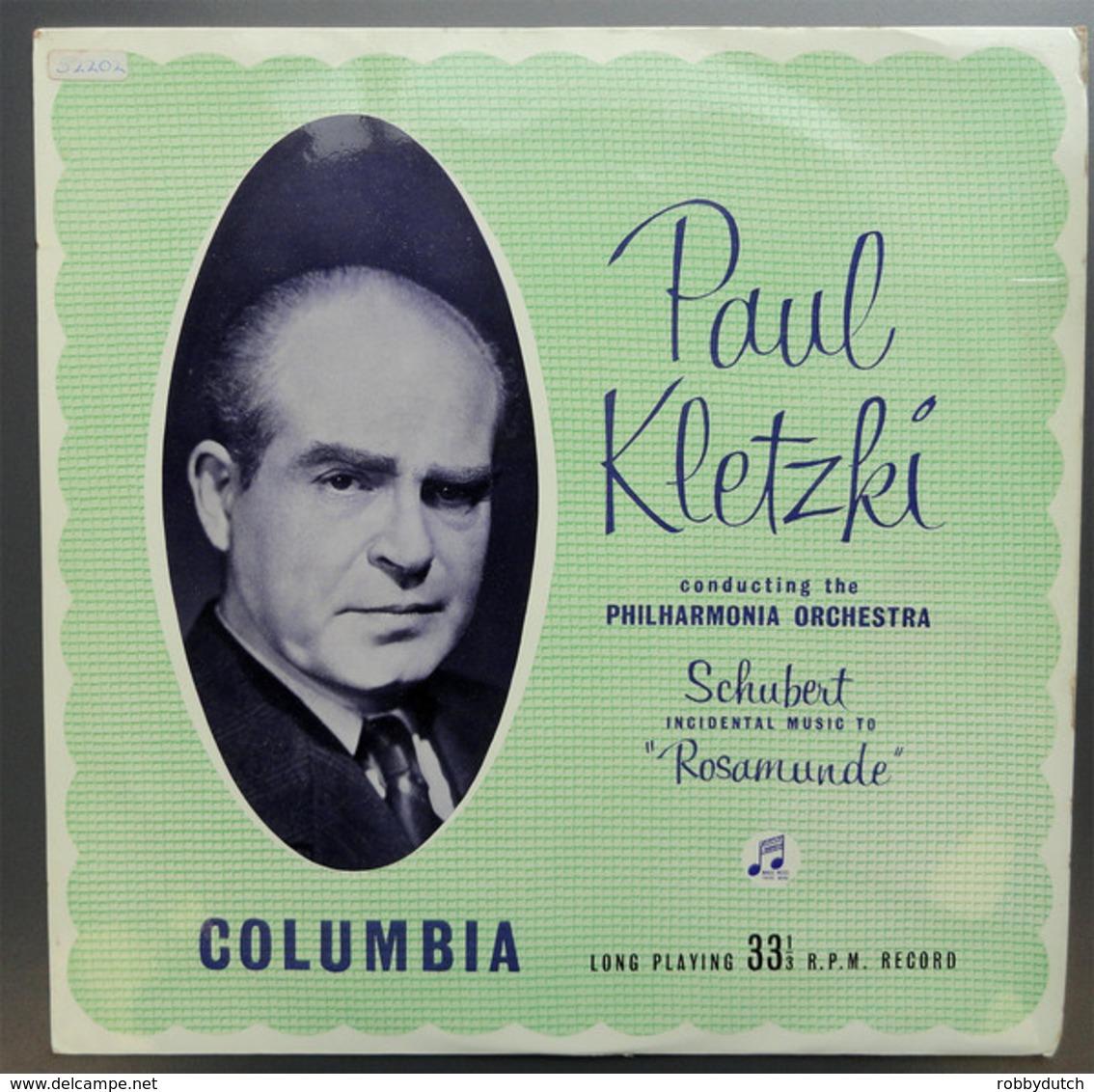 "* LP *  SCHUBERT: INCIDENTAL MUSIC TO "" ROSAMUNDE"" - PHILHARMONIA ORCHESTRA / PAUL KLETZKI (Ned 1959) - Klassik"