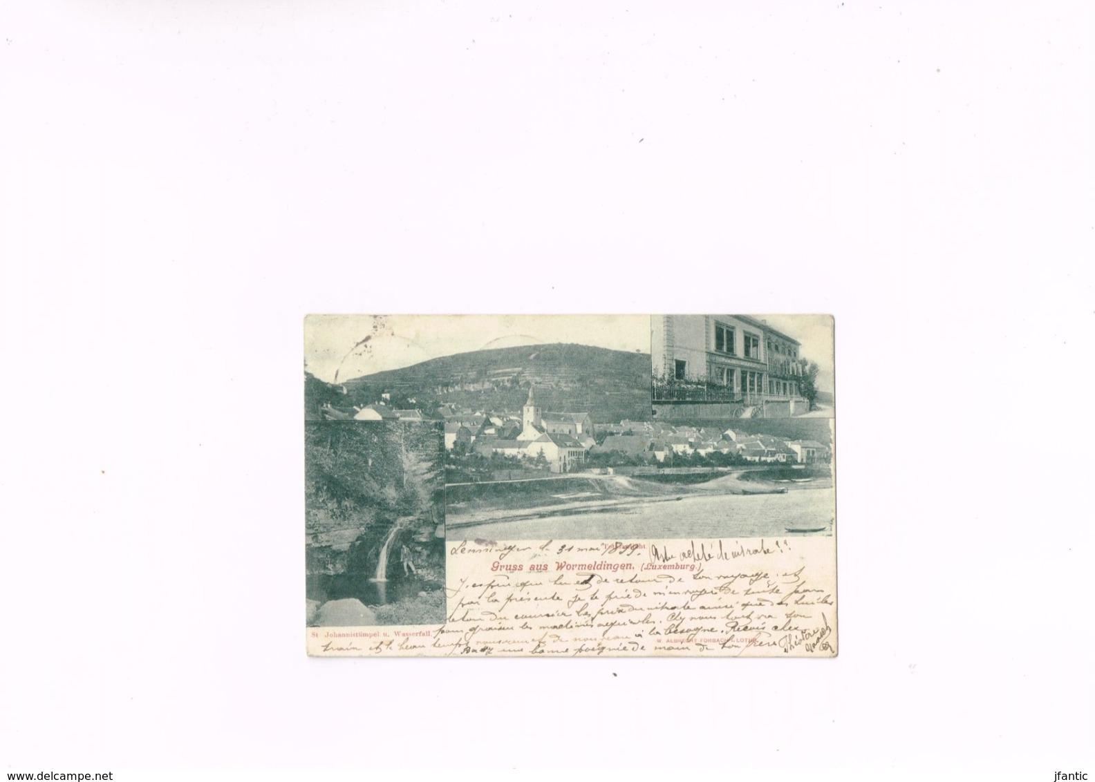 Gruss Aus Wormeldingen Luxemburg W Albrecht Forbach I.lothr, Carte Postale Ancienne 1899. - Other