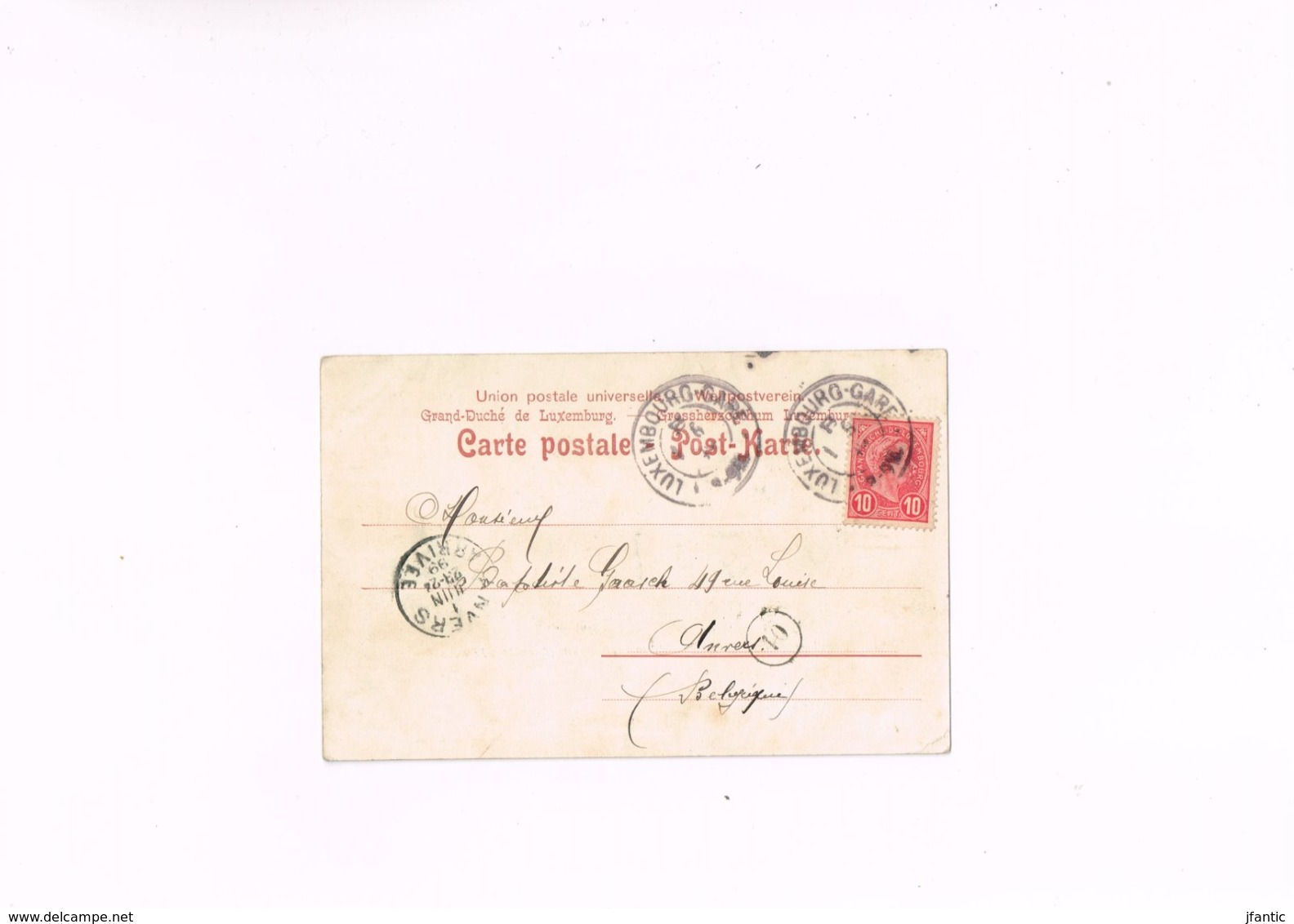 Gruss Aus Wormeldingen Luxemburg W Albrecht Forbach I.lothr, Carte Postale Ancienne 1899. - Autres