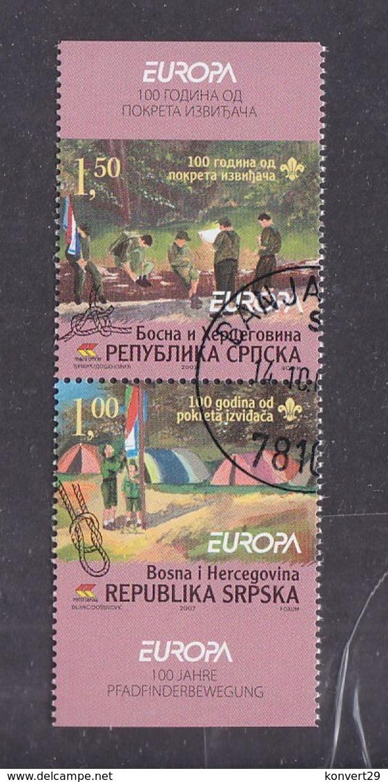 Bosnia And Herzegovina Republika Srpska 2007 Europa CEPT - Scouting Used - Europa-CEPT