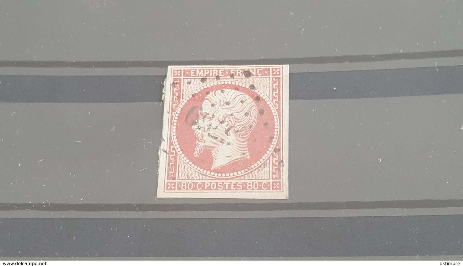 LOT 472919 TIMBRE DE FRANCE OBLITERE N°17B SIGNE CALVES - 1853-1860 Napoleon III