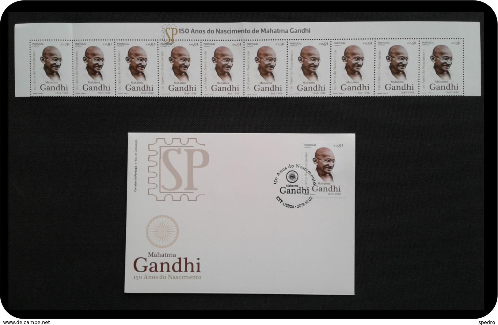 Portugal 2019 150 Anos Mahatma Gandhi Famous People Personnages De L'histoire - Mahatma Gandhi