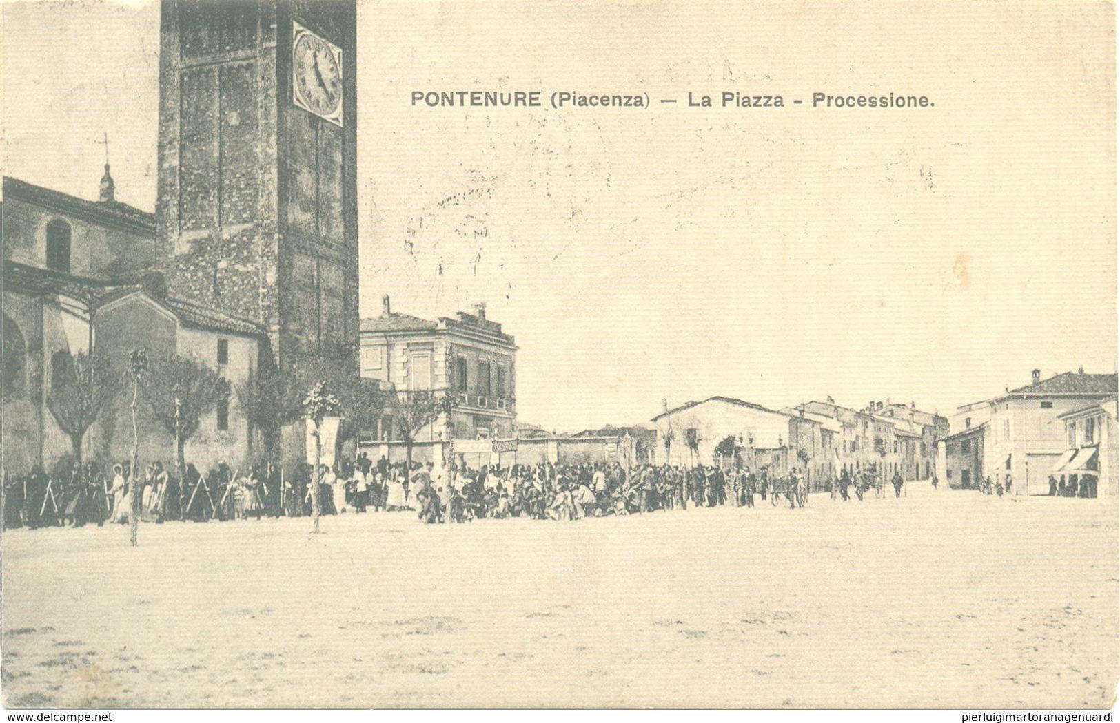 13203 - Pontenure - La Piazza - Processione (Piacenza) F - Piacenza