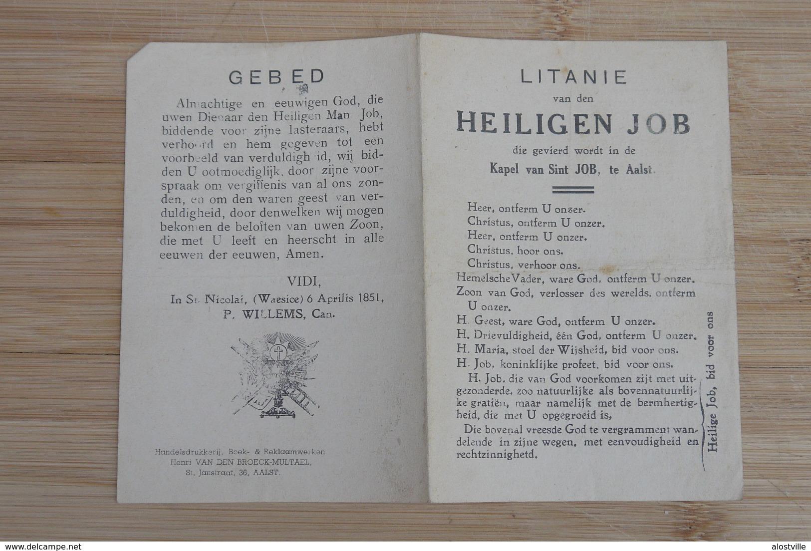 Aalst St Job Litanie Kapel St Job - Documents Historiques