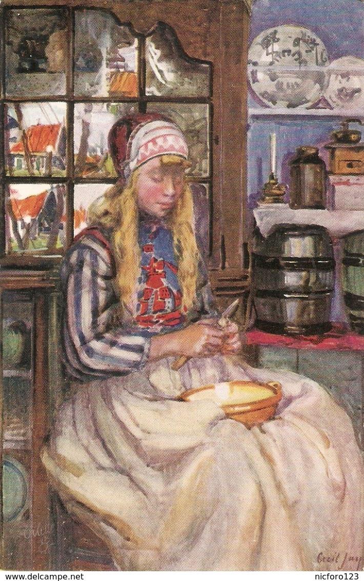 """Cecil Jay. A Dutch Girl"" Tuck Oilette Connoisseur Picturesque Hollsnd Ser. PC # 2973 - Tuck, Raphael"