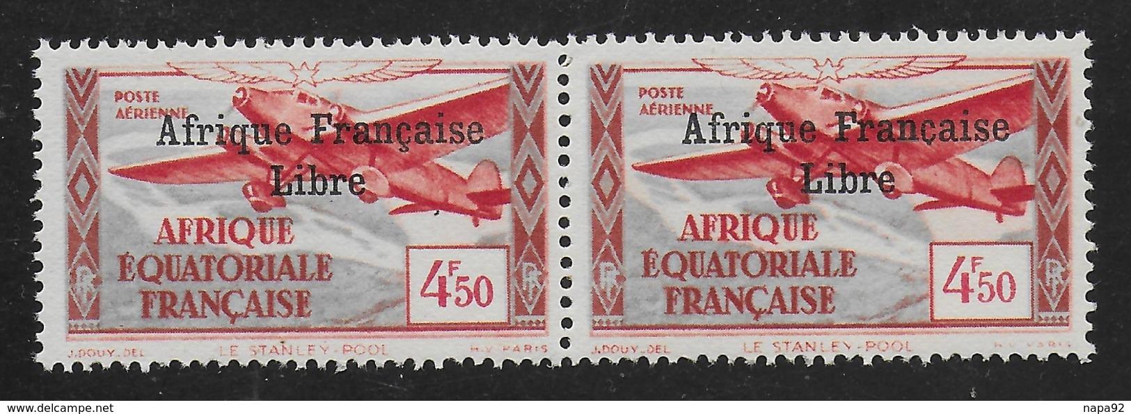 AFRIQUE EQUATORIALE FRANCAISE - AEF - A.E.F. - 1940 - YT PA 17** - VARIETE - SANS CEDILLE - Unused Stamps