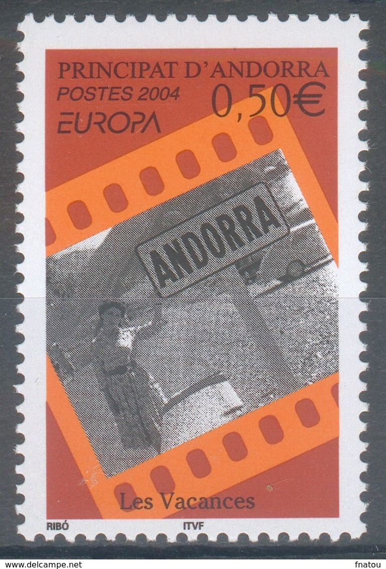 Andorra (French Adm.), EUROPA, Holidays, 2004, MNH VF  594 - Unused Stamps
