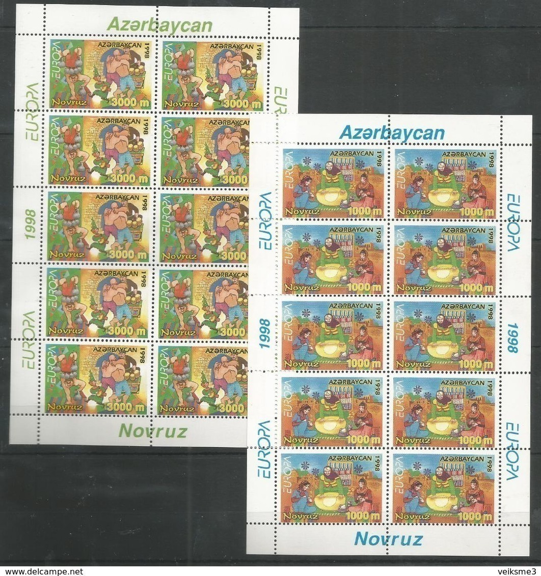 10x AZERBAIJAN - MNH - Europa-CEPT - Art - Cultures - 1998 - Europa-CEPT