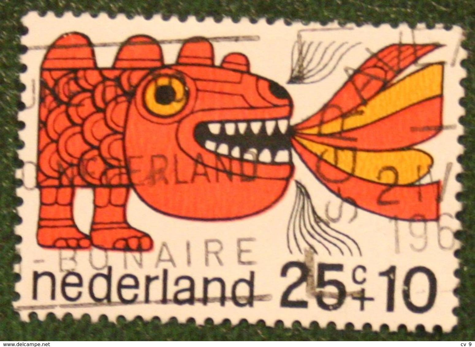 25 + 10 Ct Kinderzegel Child Welfare Kinder Enfant NVPH 915 (Mi 908) 1968 Gestempeld / USED NEDERLAND / NIEDERLANDE - Gebraucht