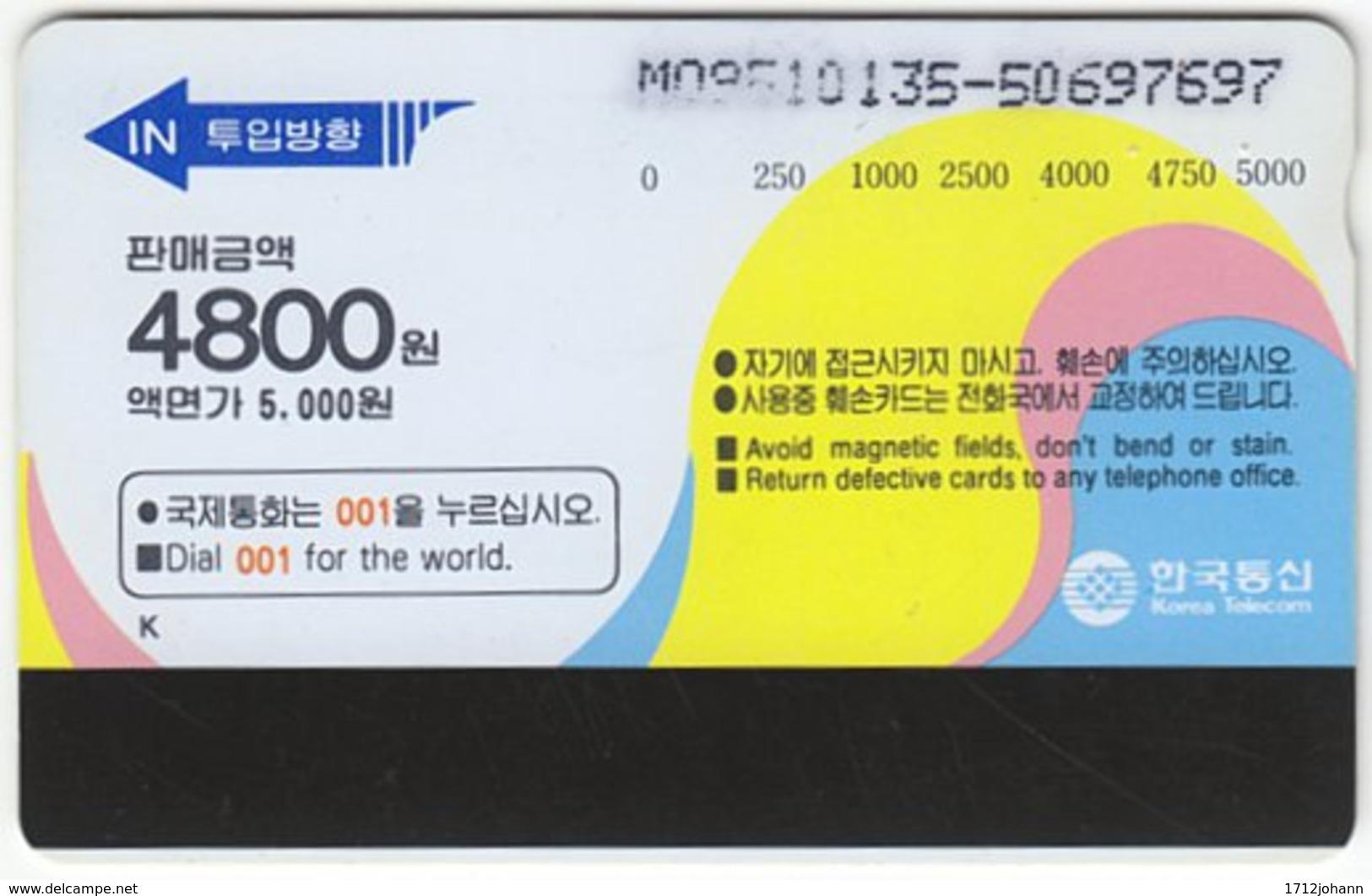 SOUTH KOREA A-405 Magnetic Telecom - Plant, Fruit, Apple - Used - Corea Del Sur