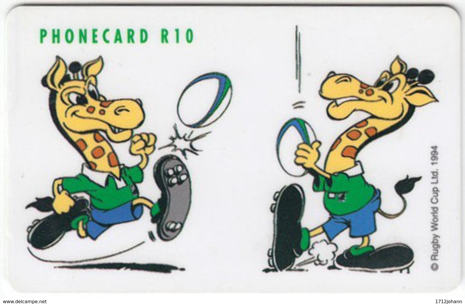 SOUTH AFRICA A-251 Chip Telkom - Sport, Event, Rugby, Cartoon, Animal, Giraffe - Used - Afrique Du Sud