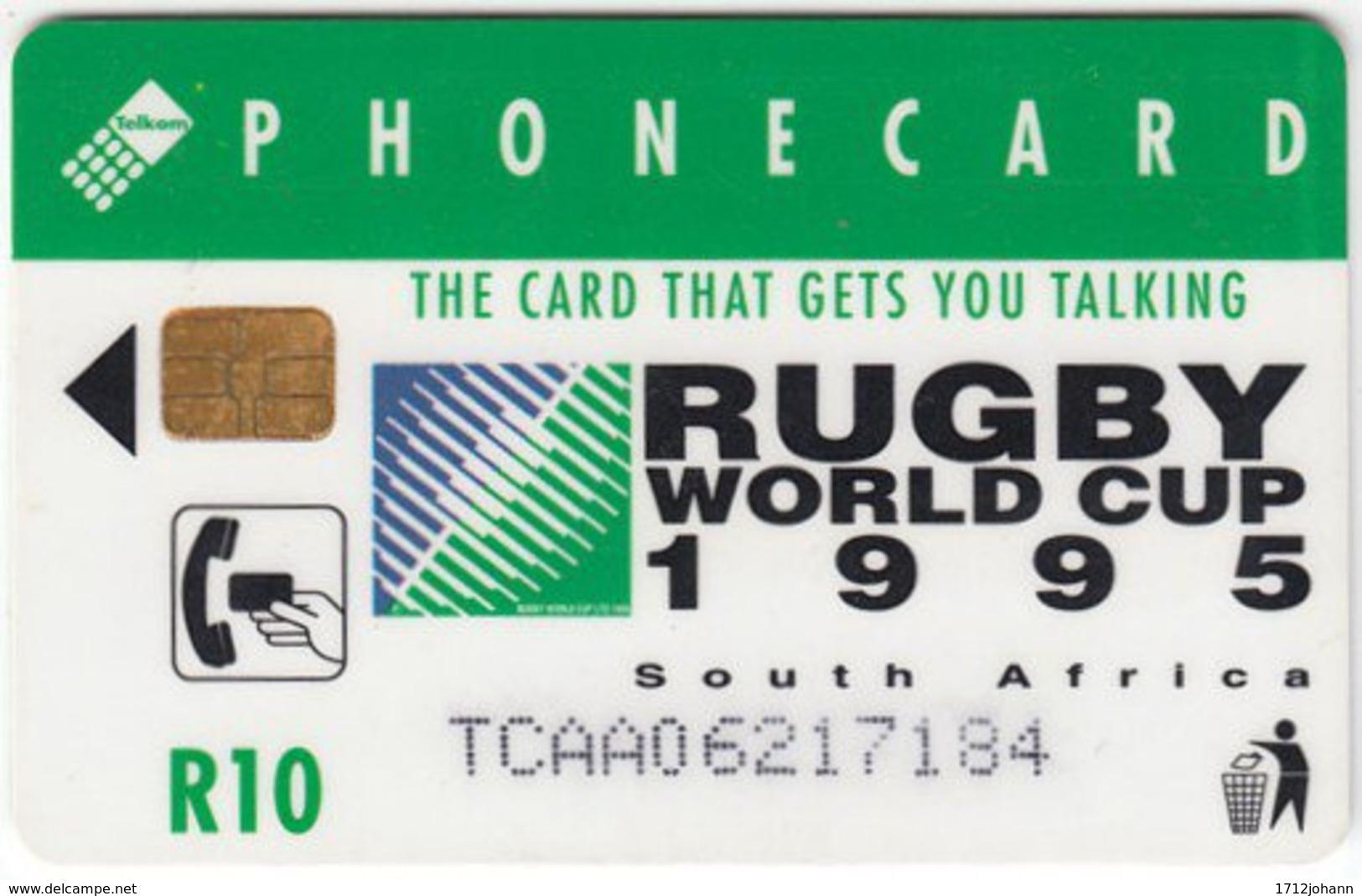 SOUTH AFRICA A-251 Chip Telkom - Sport, Event, Rugby, Cartoon, Animal, Giraffe - Used - Südafrika