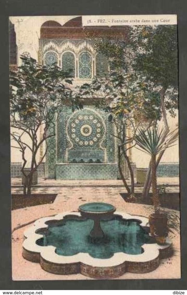 CPSM. Maroc. Fès. Fontaine Arabe Dans Une Cour. Circulé. - Monuments