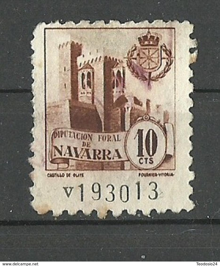 Castillo OLITE Diputacion Foral De Navarra 10cts Poliza Tasa Fiscal Impuesto - Fiscales