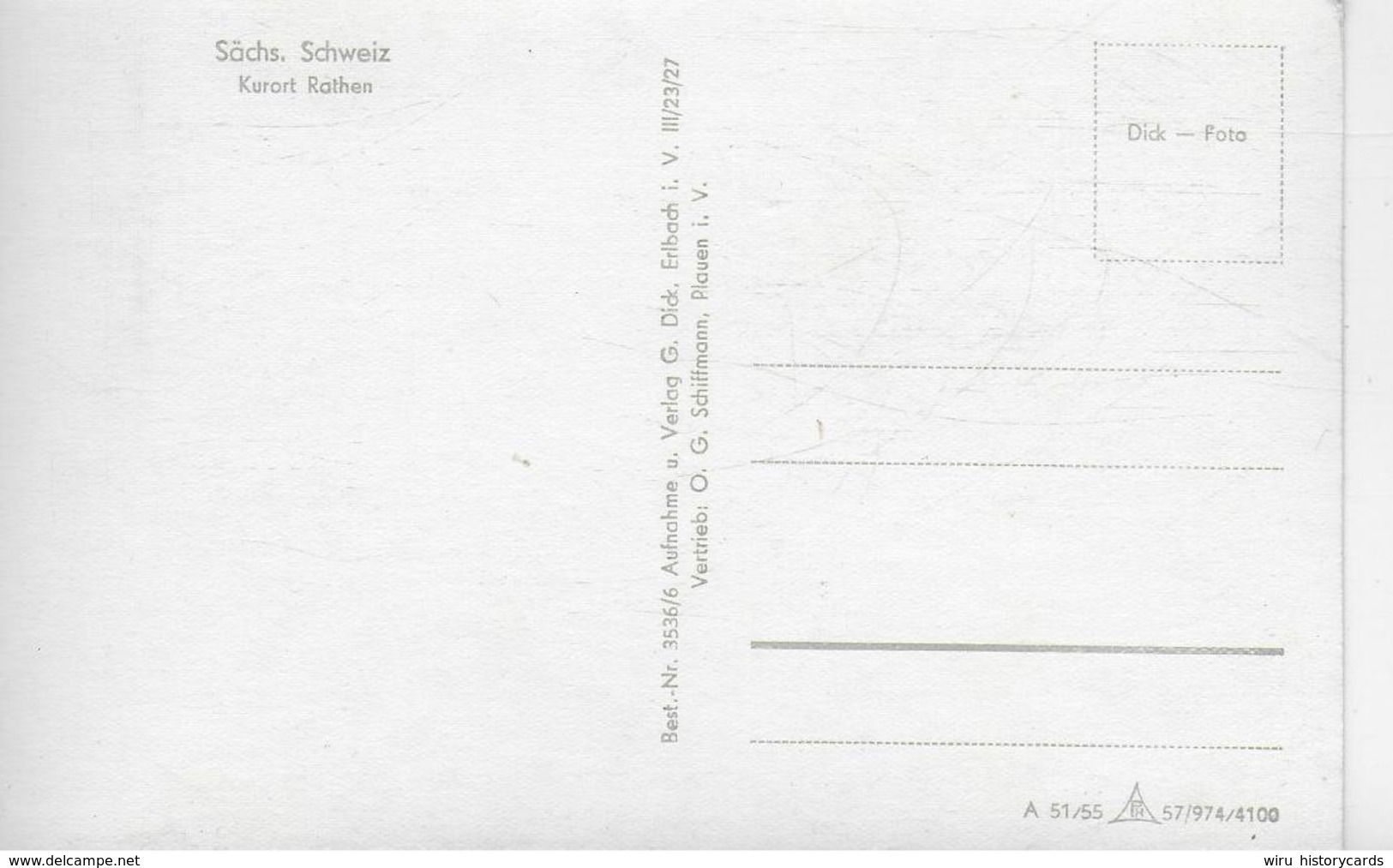 AK 0323  Rathen - Hotel Erbgericht Mit Dampfer / Ostalgie , DDR Um 1955 - Rathen
