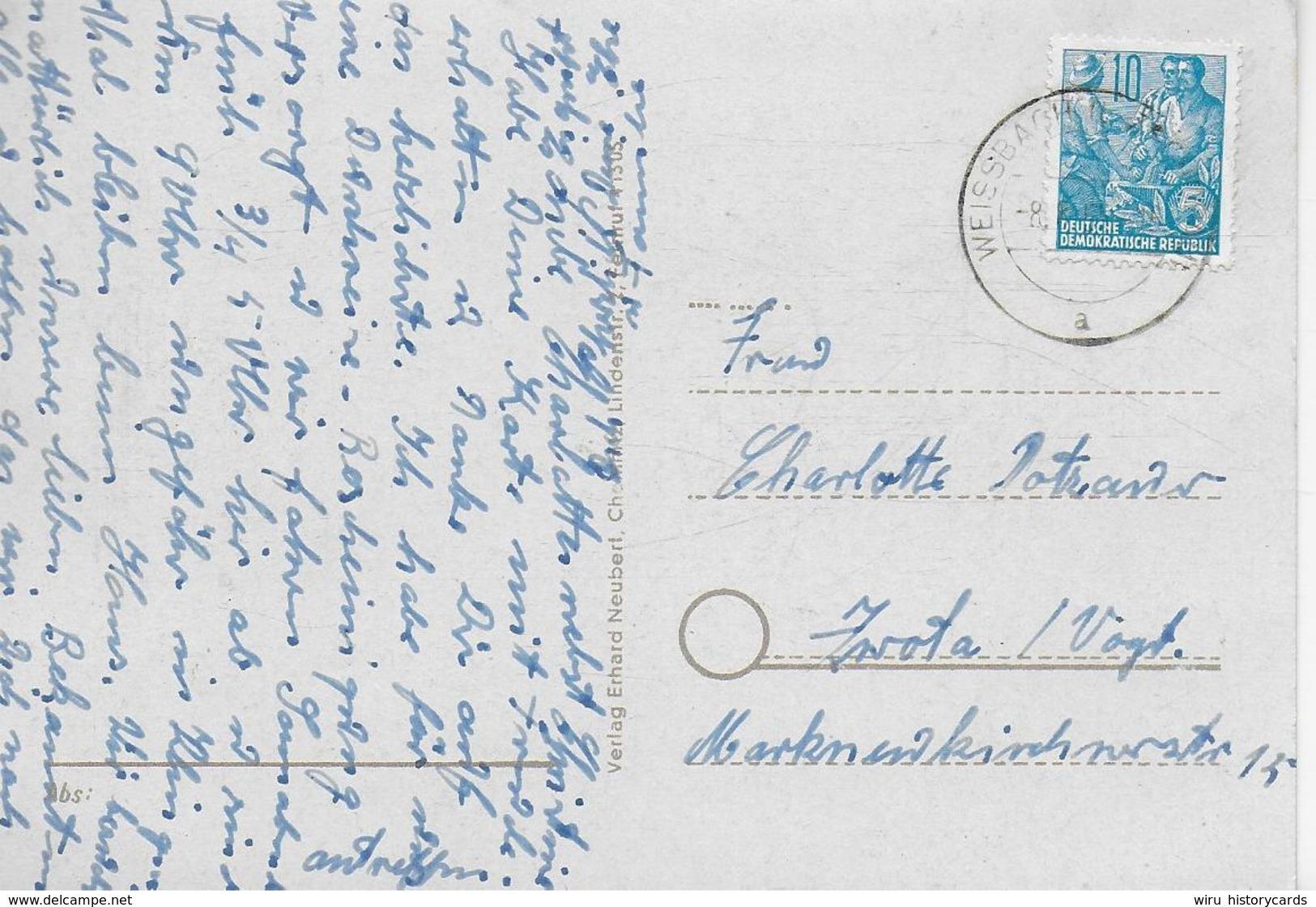 AK 0324  Weißbach Bei Zschopau / Ostalgie , DDR Um 1954 - Zschopau