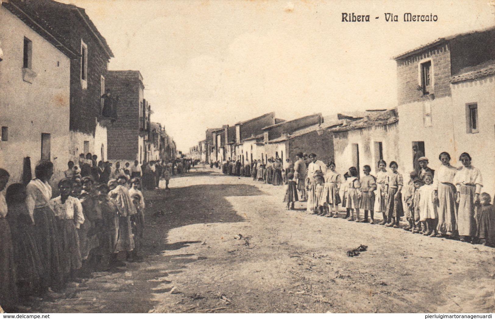 12703 - Ribera - Via Mercato (Agrigento) F - Agrigento