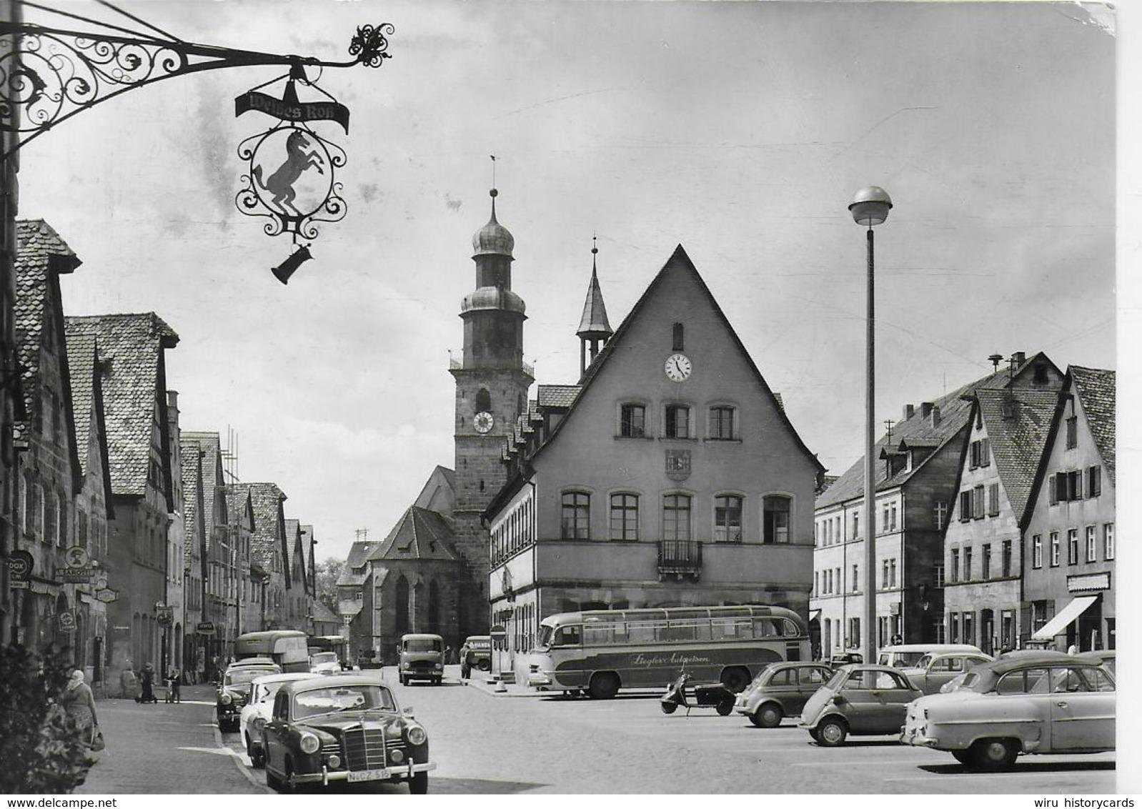 AK 0324  Lauf An Der Pegnitz - Marktplatz Um 1970 - Lauf