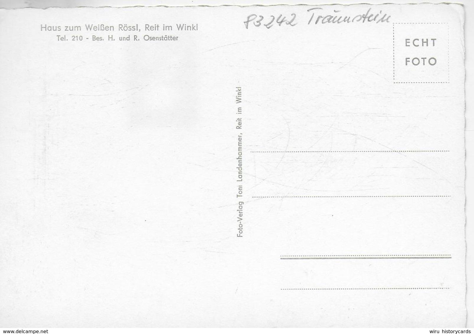 AK 0324  Reit Im Winkel - Haus Zum Weissen Rössl / Verlag Landenhammer Um 1960 - Reit Im Winkl