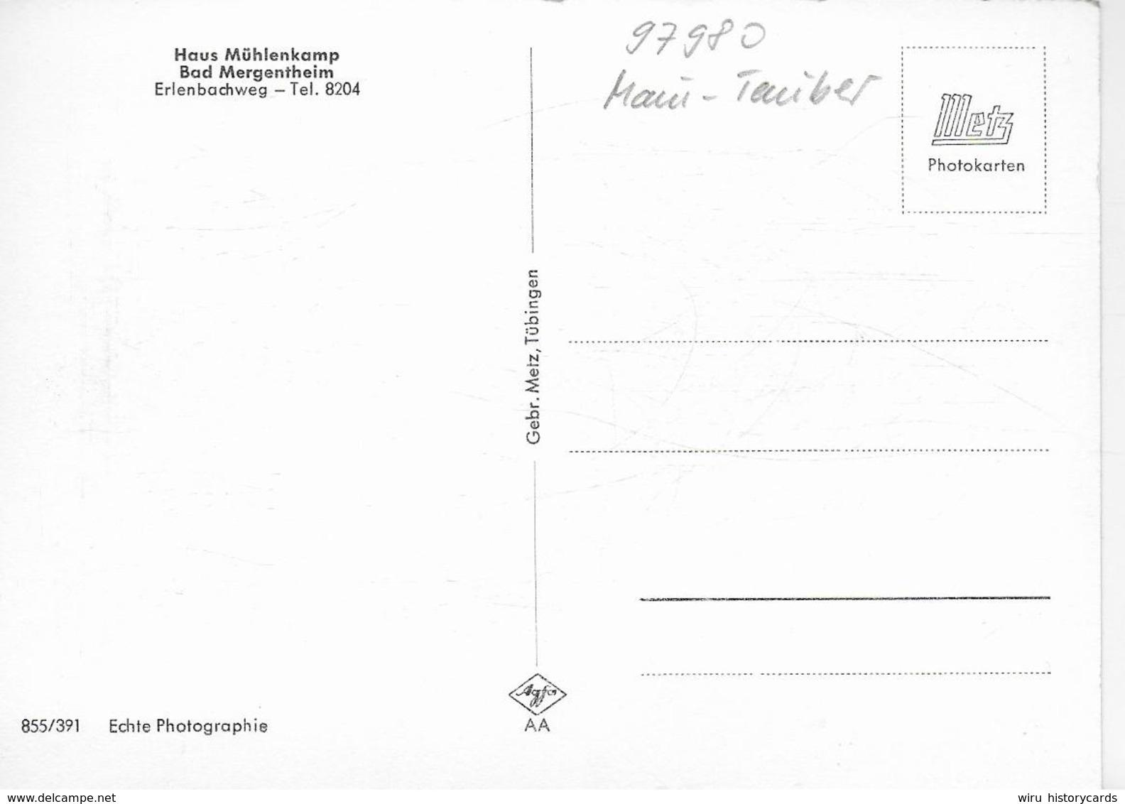 AK 0324  Bad Mergentheim - Haus Mühlenkamp / Verlag Metz Um 1960 - Bad Mergentheim