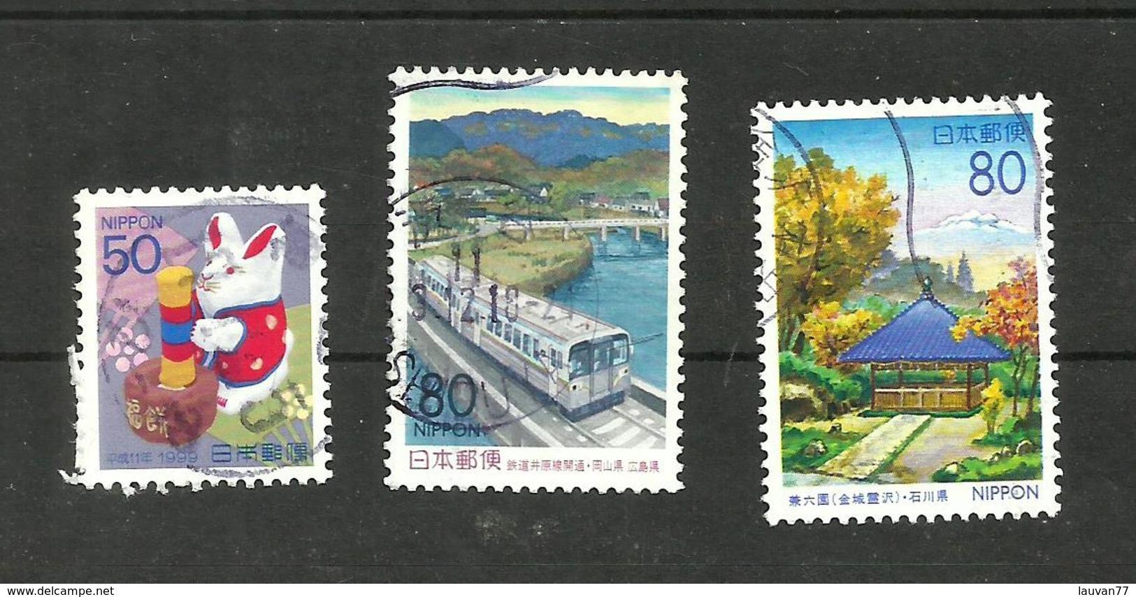 Japon N°2485, 2499, 2546 Cote 3.10 Euros - Usados