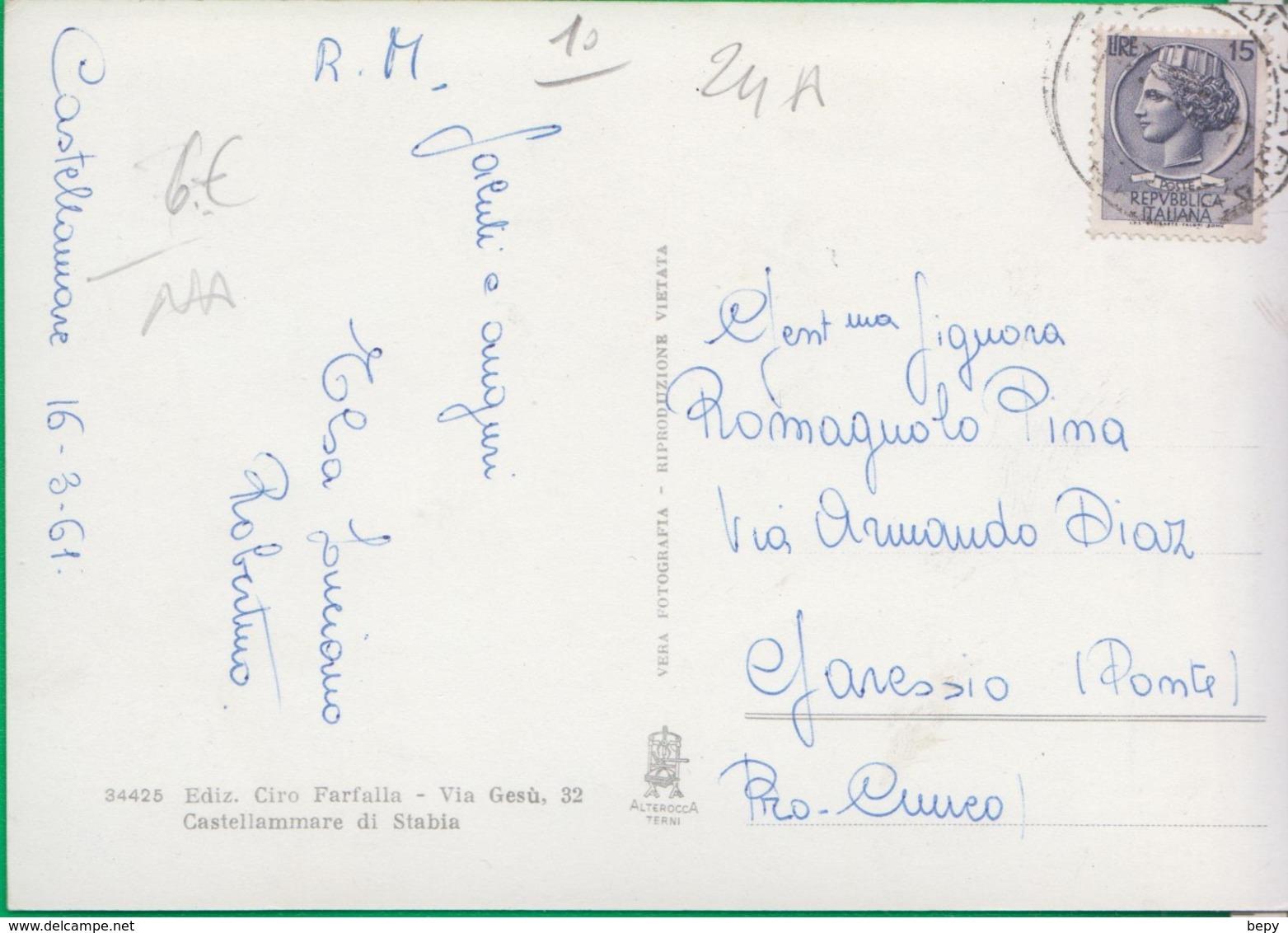 CASTELLAMMARE DI STABIA. Piazza Principe Umberto. Pulman. Autobus. 24a - Napoli (Naples)