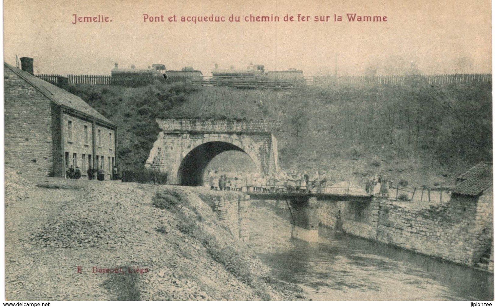 JEMELLE  Pont Et Acqueduc Du Chemin De Fer Sur La Wamme. - Rochefort