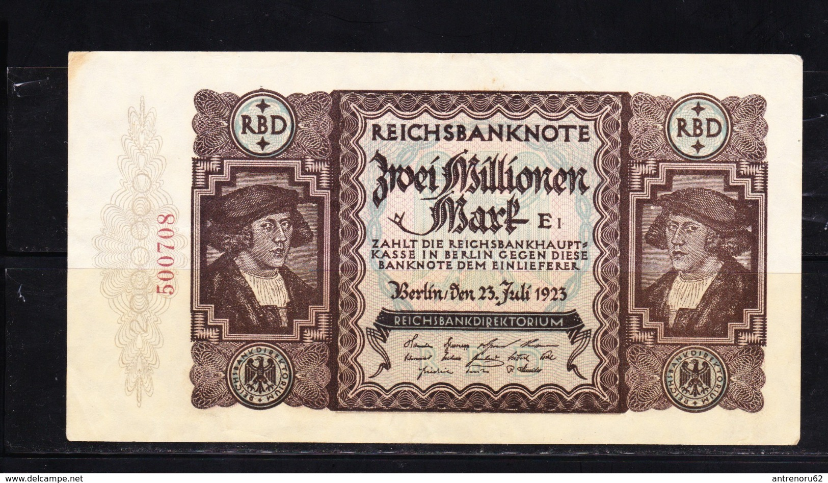 BANKNOTES-GERMANY-2.000.000-MARK-SEE-SCAN-CIRCULATED - 2 Millionen Mark
