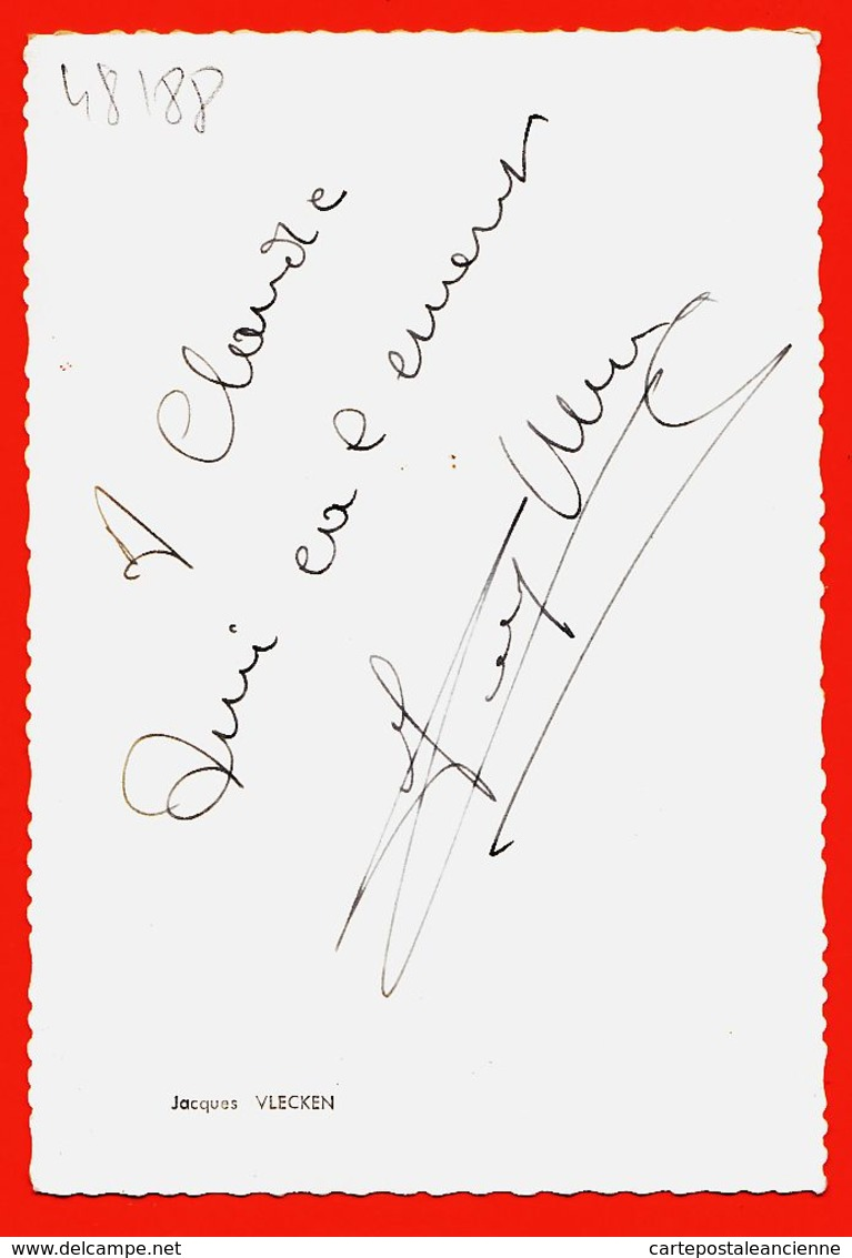 JEU089 Autographe-Dédicace Jacques VLECKEN 1960s Accordéoniste Accordéon CRUCIANELLI - Cantanti E Musicisti