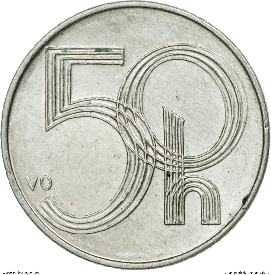 Monnaie, République Tchèque, 50 Haleru, 1999, TTB, Aluminium, KM:3.1 - Repubblica Ceca