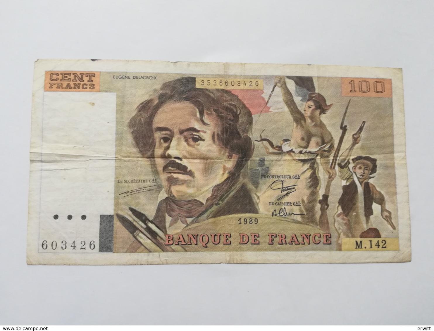 FRANCIA 100 FRANCS 1989 - 100 F 1978-1995 ''Delacroix''