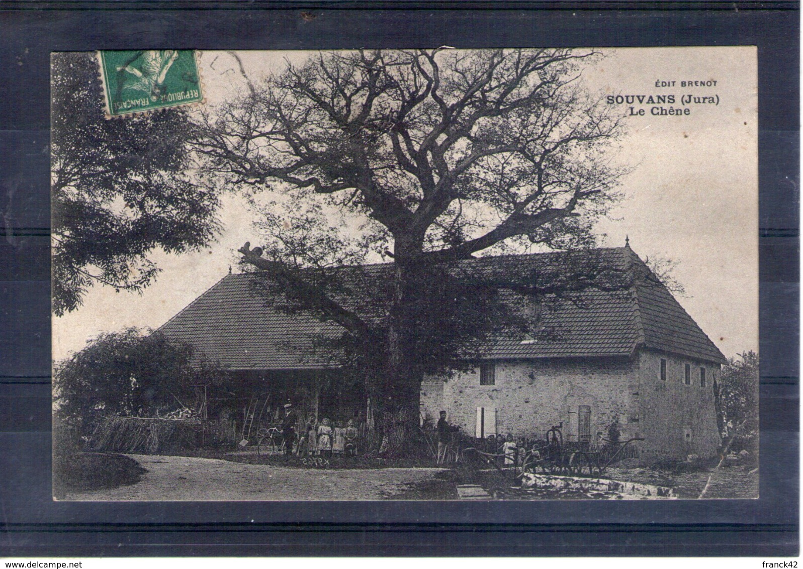 39. Souvans. Le Chêne. Coin Bas Droit Abimé - Frankrijk